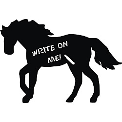 Vinyl Attraction XL Horse Dark Grey Chalkboard Decal