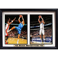 Dallas Mavericks Dirk Nowitzki Double Photo Frame