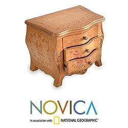 Cedar Wood 'Rose Princess' Decorative Chest of Drawers (Peru)