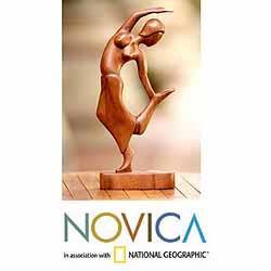 Suar Wood 'Spirit Dancer' Sculpture (Indonesia)
