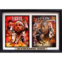 Miami Heat 'Dynamic Duo' Double Photo Plaque