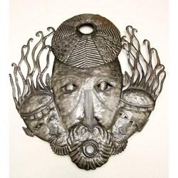 Recycled Steel Drum Trinity Mask Art (Haiti)