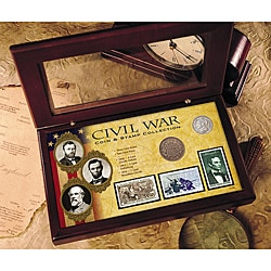 American Coin Treasures Civil War Coin and Stamp Collection with Certificate of Authenticity