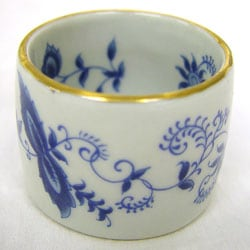 Annabelle Blue and White Porcelain Floral Napkin Rings (Set of 4)
