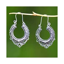 Handcrafted Sterling Silver 'Pure Signs' Earrings (Indonesia)