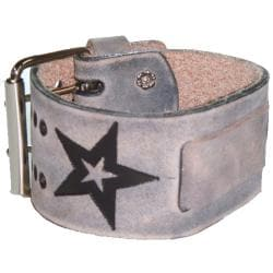 Nemesis Faded Star Grey Leather Watch Band