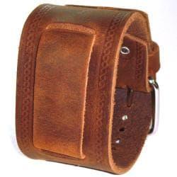 Nemesis Medium Embossed Strip Brown Watch Band