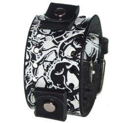 Nemesis Multi Skulls Black Leather Band