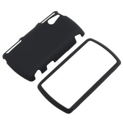 INSTEN Black Rubber-coated Phone Case Cover for Sony Ericsson R800i Xperia Play