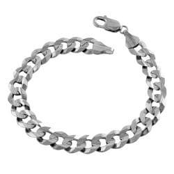 Fremada 14k White Gold 8.5-inch Curb Bracelet