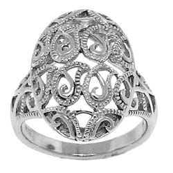Sterling Silver Fancy Filigree Ring