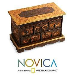 Handcrafted Cedar 'Longing' Chest of Drawers (Peru)