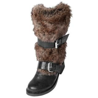 Two Lips Women's 'Too Lynx' Faux Fur Trimmed Boots