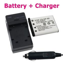 INSTEN Battery/ Charger Set for Casio EXILIM NP-80/ EX-S5/ EX-Z270