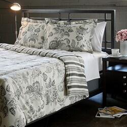 Cordoba Grey King-size 3-piece Duvet Cover Set