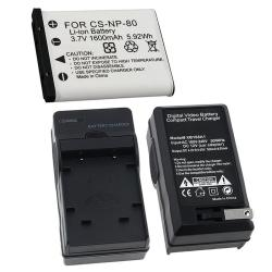 INSTEN Battery/ Charger Set for Casio Exilim NP-80/ EX-Z550/ EX-Z330 (Refurbished)
