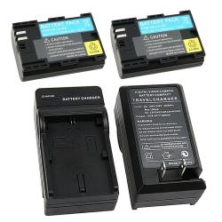 INSTEN 3-piece Battery/ Charger Set for Canon LP-E6/ EOS 5D/ Mark II/ 7D