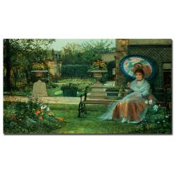 John Grimshaw 'In the Pleasaunce Leeds 1875' Gallery-wrapped Canvas Art