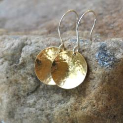 AEB Design Red Brass and Sterling Silver Single-cup Earrings 8234938