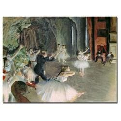 Edgar Degas 'The Rehearsal of the Ballet on Stage' Gallery-wrapped Canvas Art