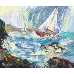 Charles Nivens 'Lake View 2' Canvas Art
