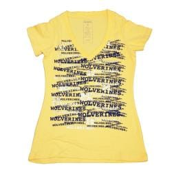 Campus Couture Women's Michigan Wolverines Rylan V-neck T-shirt