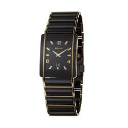 Rado Men's 'Integral' Goldtone Steel/ Ceramic Date Quartz Watch