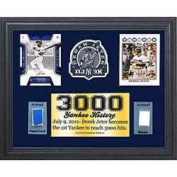 New York Yankees Derek Jeter 3000 Hits 11x14 Game Used Commemorative Frame