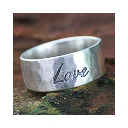 Handcrafted Sterling Silver 'Spirit of Love' Ring (Thailand)