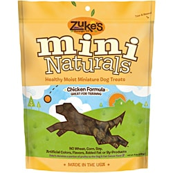 Zukes Mini Naturals 6 oz Moist Chicken Treats
