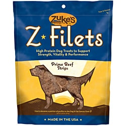 Zuke S Z-filets Treats Beef 3.25 Ounces - 44550