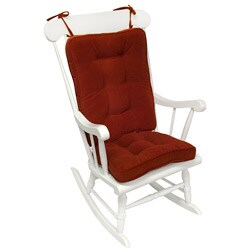Scarlet Microfiber Reversible Chair Cushion Set