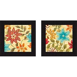 Nan 'Woodstock Garden I & II' Framed Print Art