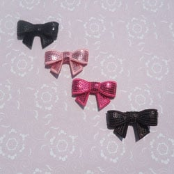 Sequin Bows (Set of 4)