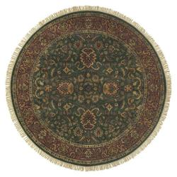Hand-knotted Banks Wool Rug (8' Round)