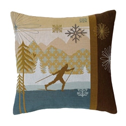 Corona Decor French-woven Feather and Down Fill Cross Country Ski Decorative Down Pillow Sports Gear