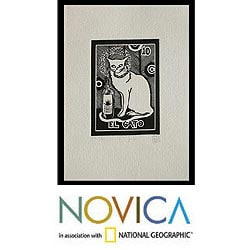 Pallares 'The Cat Tequila Lotto' Aquafortis Print (Mexico)