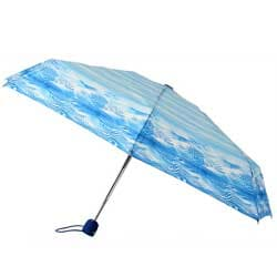 Leighton Umbrellas Blue Auto Compact Umbrella