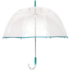 Tina T Bubble Clear/Teal Bubble Umbrella