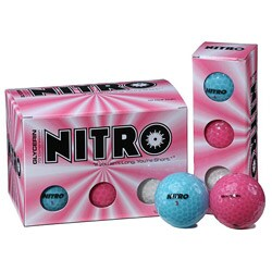 Nitro Glycerin Multi-colored Golf Balls (Pack of 72)