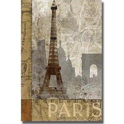 Keith Mallett 'April in Paris' Canvas Art