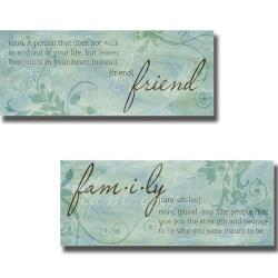 Sd Graphics 'Friend and Family' 2-piece Canvas Art Set