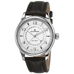 Revue Thommen Men's 10012.2532 'Date Pointer' Black Leather Strap Automatic Watch
