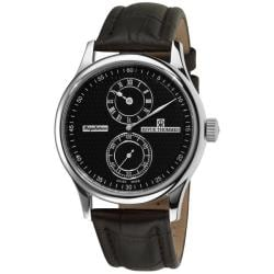 Revue Thommen Men's 16065.2537 'Regulator' Black Face Automatic Regulator Watch