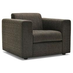 Barcelona Grey/ Dark Brown Fabric Chair