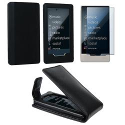 INSTEN Soft Silicone Phone Case Cover/ Leather Phone Case Cover/ Screen Protector for Microsoft Zune HD