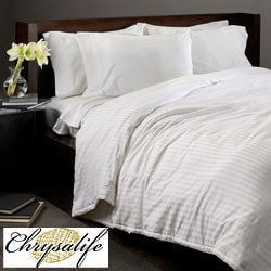 Mulberry Silk-filled Cotton Stripe Comforter (As Is Item)
