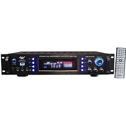 Pyle 1500 Watts Hybrid Preamp with AM/ FM Tuner (Refurbished)