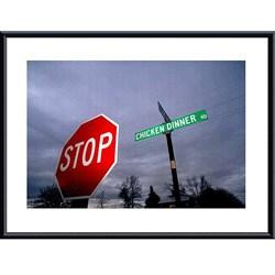 John K. Nakata 'Chicken Dinner Road' Metal Framed Print Art 8313708