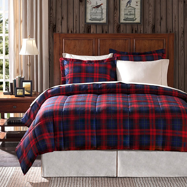 Premier Comfort Ashland Plaid Twin-size 2-piece Down Alternative Comforter Set